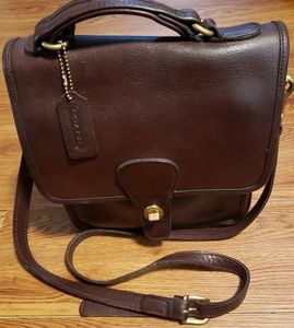 Coach vintage brown leather Willis crossbody bag